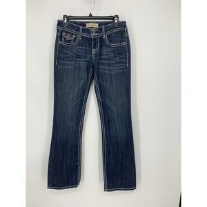 Vigoss 3 bootcut distressed jeans flap pockets